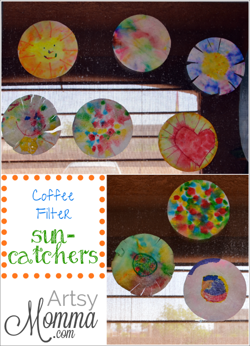 Coffee Filters Suncatchers Craft