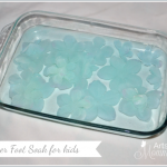 Simple Flower Foot Soak – Spa Activity for Kids