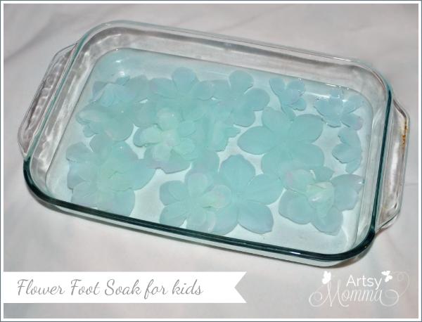 Simple Flower Foot Soak – Spa Activity for Kids