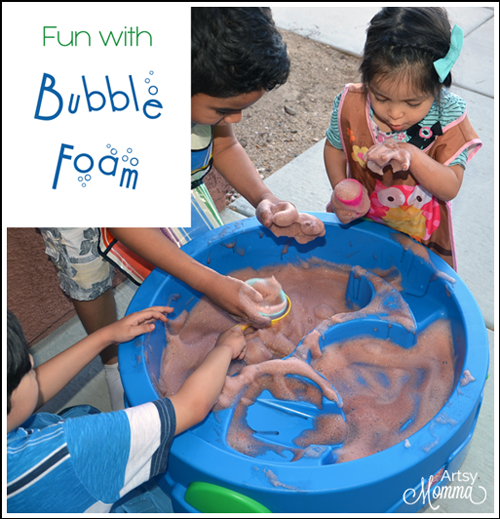 Have fun playing with Bubbly Soap Foam - easy to make!