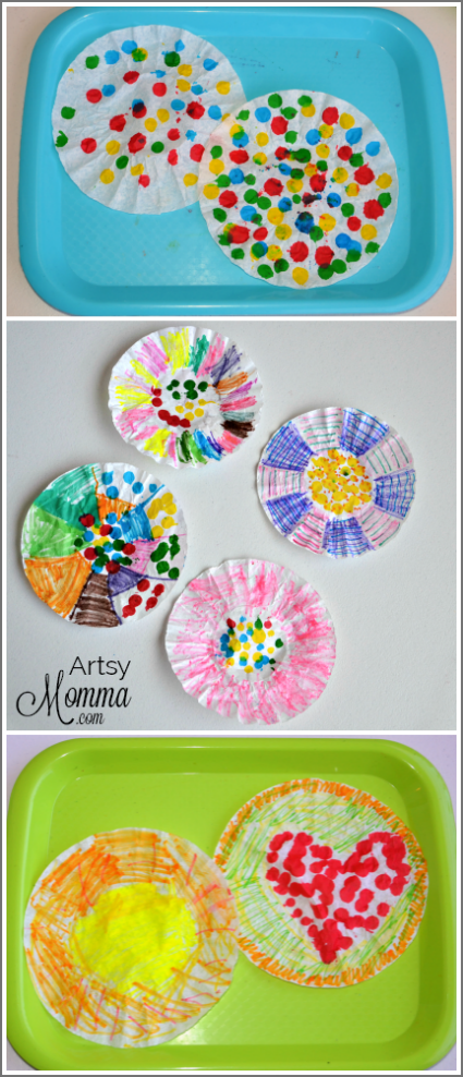 Make Coffee Filter Suncatchers
