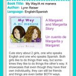 Spanglish books for kids: Margaret and Margarita books