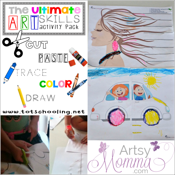 The Ultimate Art Skills Pack Review: Cut, Paste, Draw, Trace, and Color