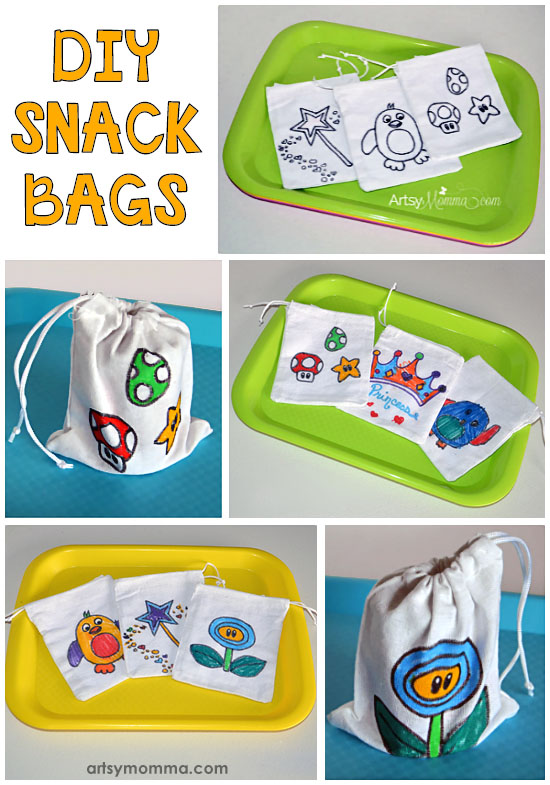 Back to School DIY Snack Bags Craft for Kids