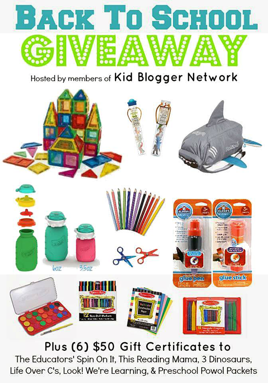 Back to School Giveaway - Win a HUGE Prize Pack!