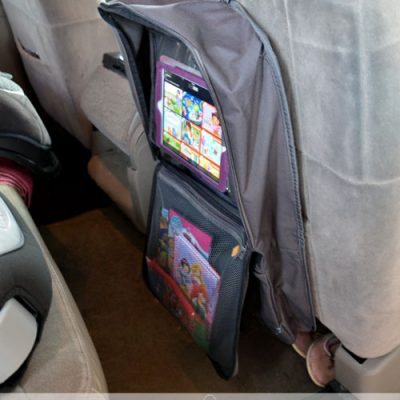 Car Seat Organizer with Tablet Viewer – Great for Road Trips!