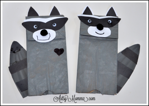 Chester the Raccoon Paper Bag Puppet Craft