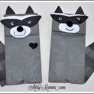 Back to School with Chester the Raccoon Puppet Craft