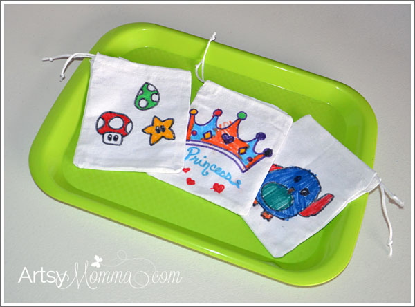 School Lunch Craft Idea: Decorate bags to use for snacks such as an apple!