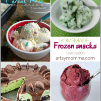 Homemade Frozen Snacks | Bewitchin' Projects Link Party 8/24
