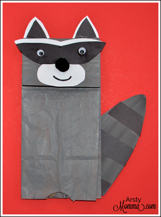 Paper Bag Chester the Raccoon Craft