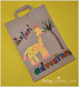 Safari Activity for Kids: Torn Paper Giraffe Craft