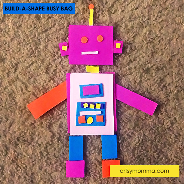 Preschool Math: Build a Robot from Shapes