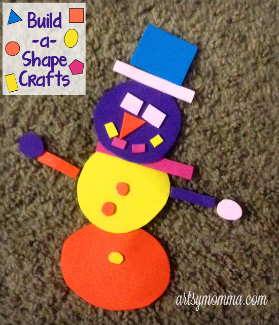 Build-a-Shape Snowman Craft