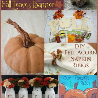 DIY Decorating Ideas for Fall | Bewitchin' Projects Linky 9/21