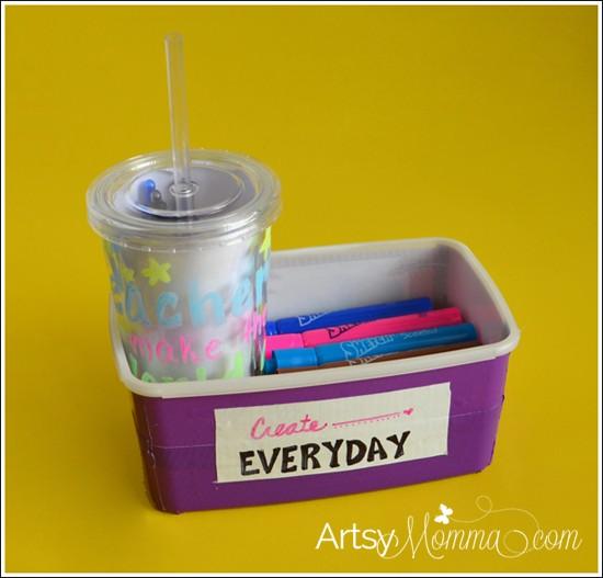 DIY School Supply Teacher Gifts