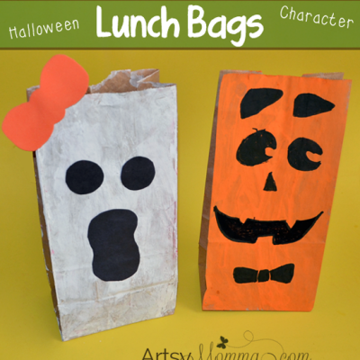 DIY Paper Lunch Bag Halloween Characters for Kids