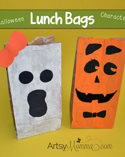 Paper Lunch Bag Halloween Characters - Halloween Craft for Kids