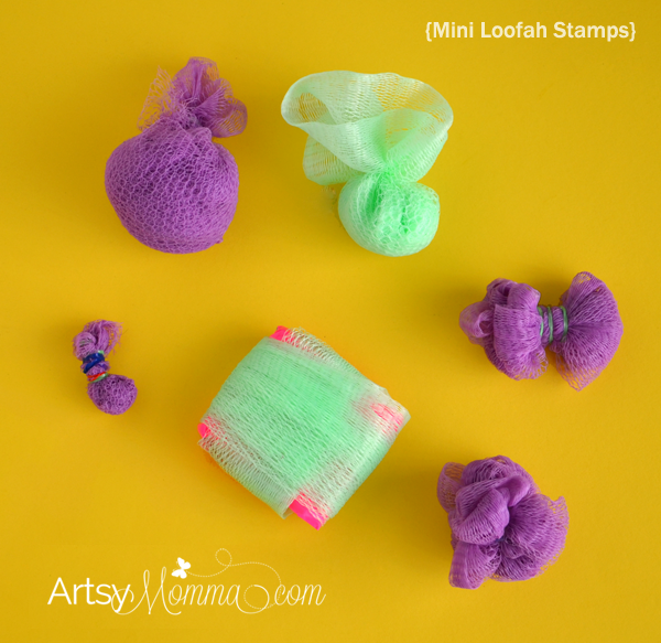 Mini Loofah Stamps