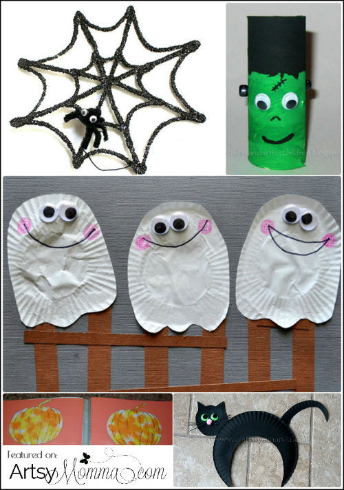 not so scary halloween crafts for kids