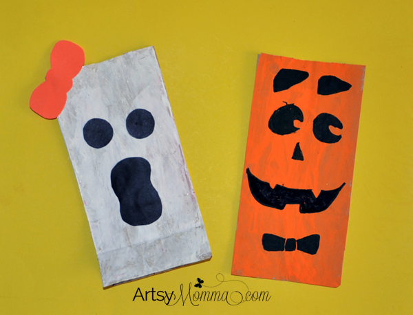 Paper Lunch Bag Craft - Halloween Character Lunch or Treat Bags for Kids