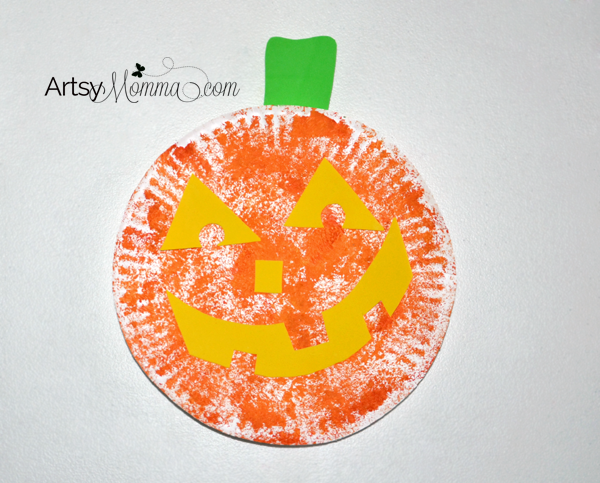 Paper Plate Jack-o-lantern Craft for Halloween