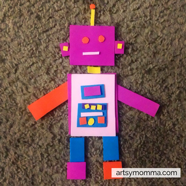 Shape Robot - Preschool Shapes Activity