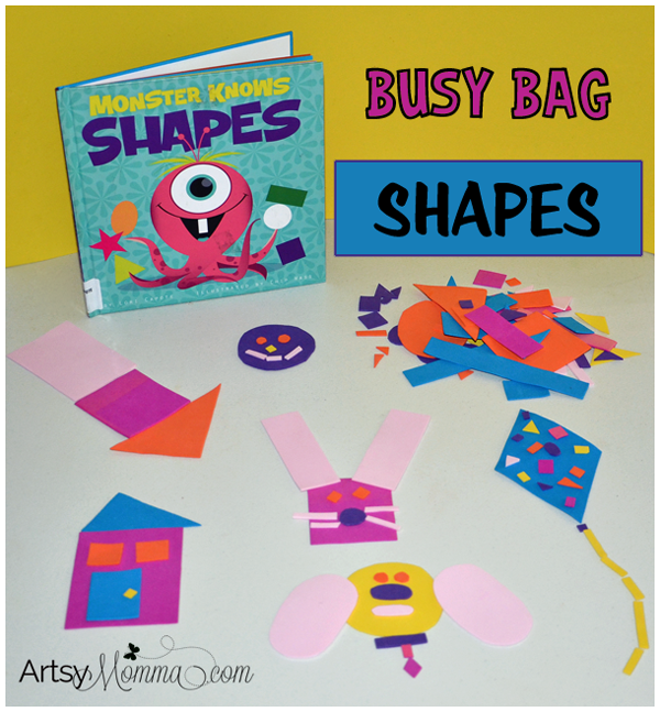 Busy Bag Shapes - Activity for Preschoolers