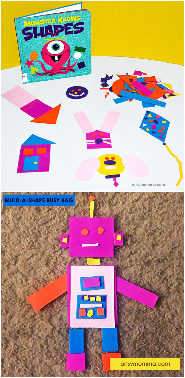 Shapes Busy Bag & Fine Motor Activity for Preschoolers