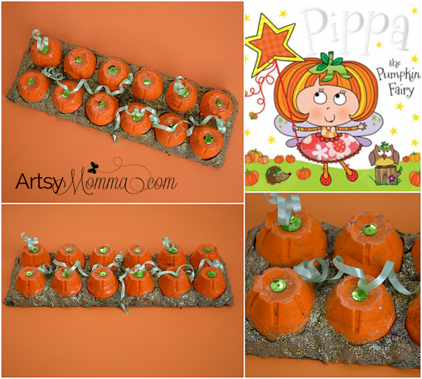 Boo'tiful Pumpkin Patch Craft made from an Egg Carton