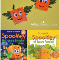Spookley the Square Pumpkin Craft Magnets