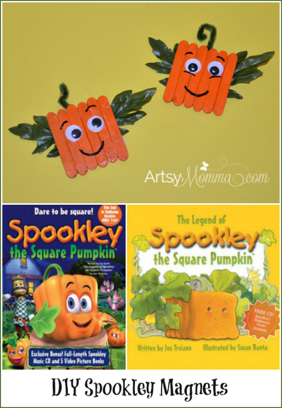 DIY Spookley the Square Pumpkin Craft Magnets