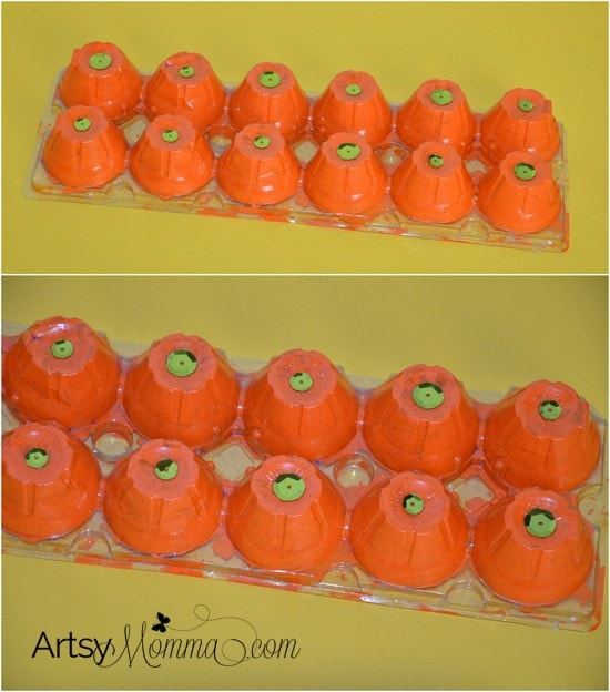 Egg Carton Pumpkin Patch Craft