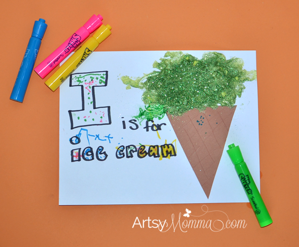 I is for Ice Cream Cone - Letter of the Week Craft