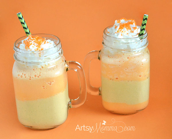How to make a Layered Candy Corn Shake Recipe