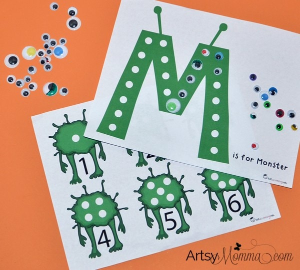 M is for Monster: Math & Fine Motor Skills