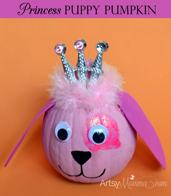Make a Pupy Princess from a pumpkin!