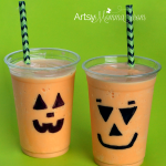 Halloween Recipe:  Orange Flavored Jack-o-lantern Shakes