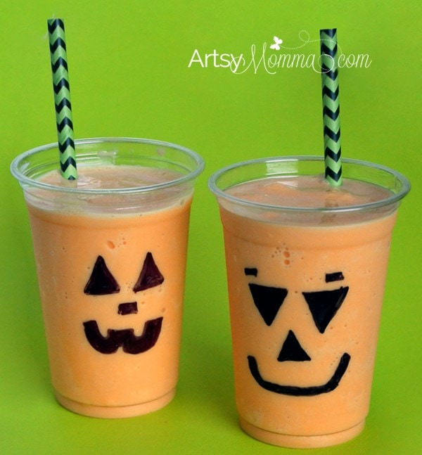 Orange Flavored Halloween Shake Recipe | Jack-o-lanterns