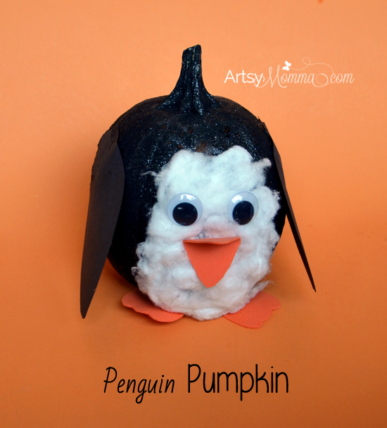 DIY Penguin Pumpkin Tutorial from Artsy Momma