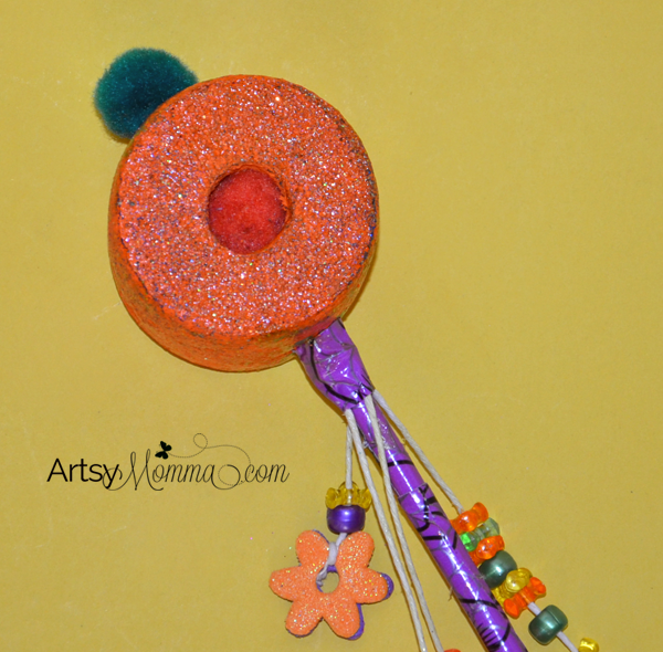 Pool Noodle Pumpkin - DIY Fairy Wand