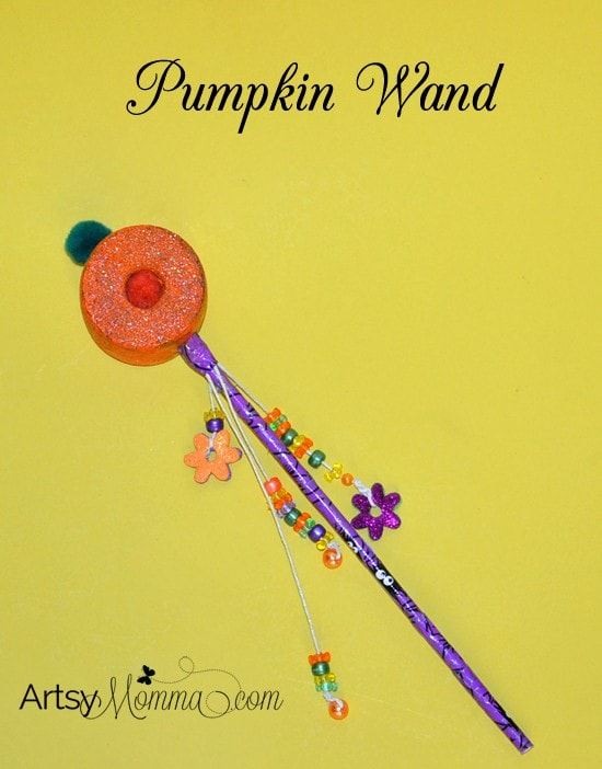 Pool Noodle Pumpkin Wand Craft