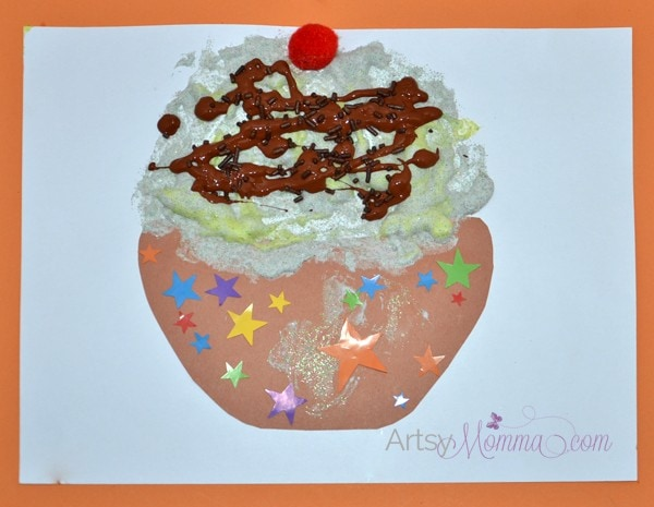 Puffy Paint Craft - Ice Cream Sundae