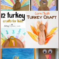 12 Turkey Crafts for Kids {Bewitchin' Projects Linky}