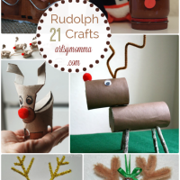 Rudolph Crafts for Kids {and moms too!}