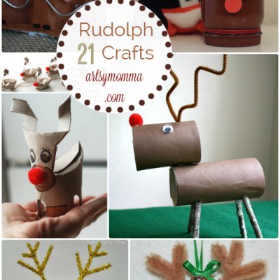 Awesome Rudolph Crafts for Kids {and moms too!}