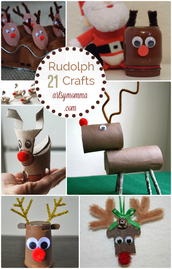 21 Rudolph Crafts for Kids: Recycled Crafts, Handprint Reindeer, & more!