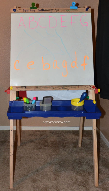 Easel Activity - Preschool Alphabet Learning