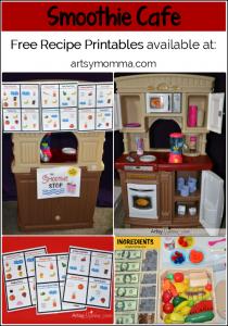 Free Printable Smoothie Recipes - Pretend Play Smoothie Cafe