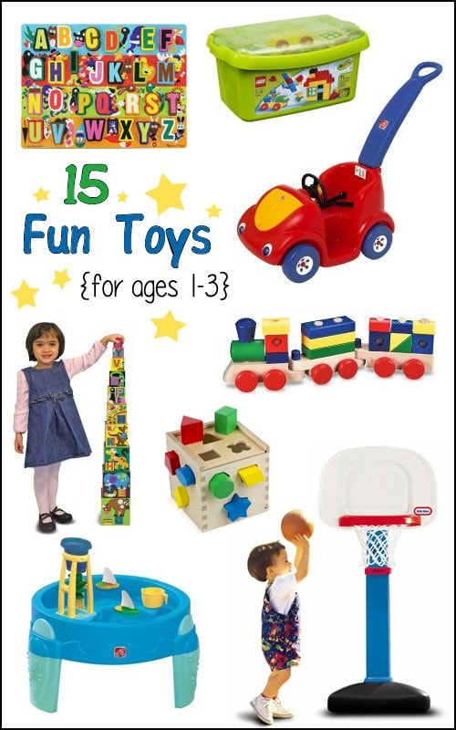 15 Fun Toys for 1-3 Year Olds {Gift Guide}